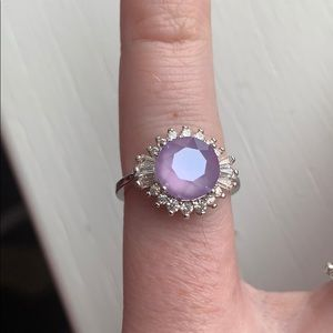 Fragrant Jewels size 5 Purple Snow Collection Ring
